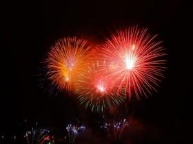 【岩手の花火】北上・みちのく芸能まつり トロッコ流しと花火の夕べ2015